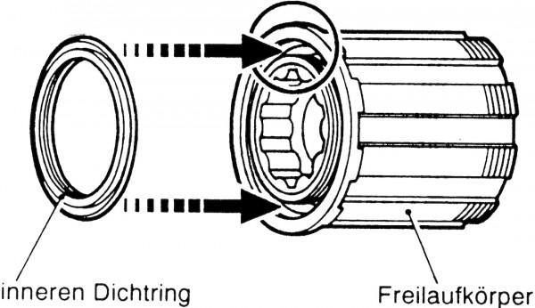 Shimano Freilaufkörper - Zahnkranzkörper 8-9 Gang FH-M595