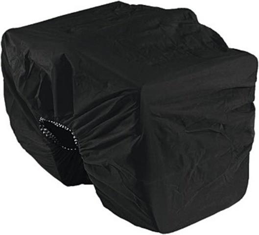 Regenschutz für Doppeltaschen schwarz