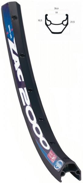 RYDE Hinterrad 28 Zoll Rigida ZAC 2000 Disc schwarz Shimano Deore M615 schwarz