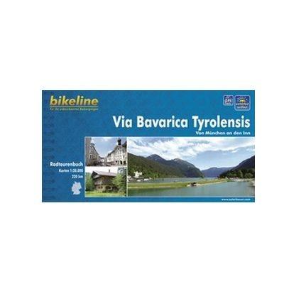 bikeline Fahrradkarte Via Bavarica Tyrolensis
