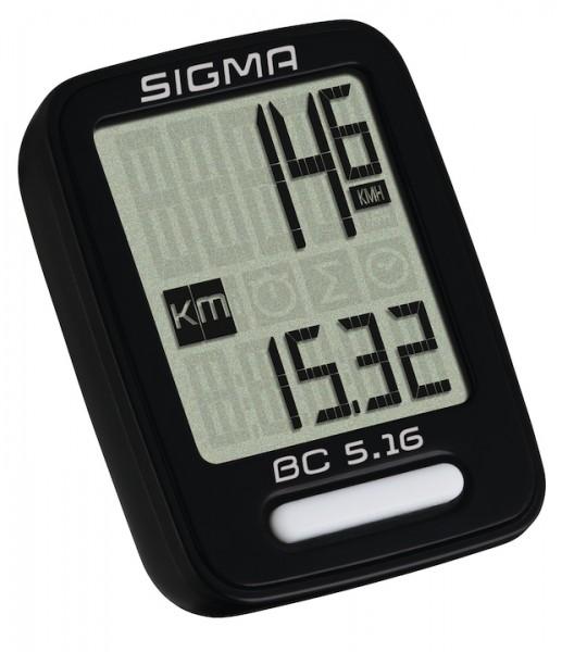 SIGMA Fahrradcomputer BC 5.16 schwarz