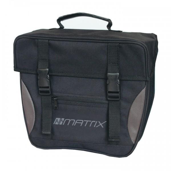 MATRIX Einzeltasche schwarz/silber