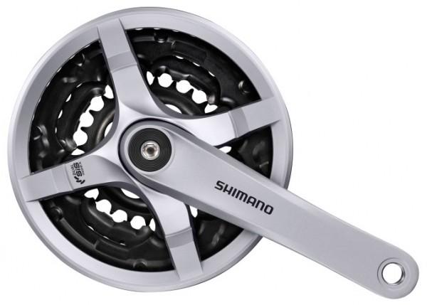 Shimano Kettenradgarnitur Tourney FC-TY501 48x38x28 Zähne silber