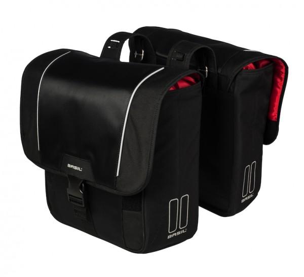 Basil Doppelpacktasche Sport Design schwarz