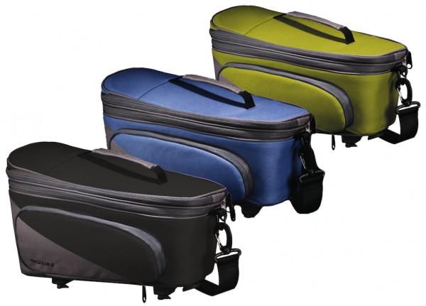 Racktime Gepäckträgertasche Talis Plus trunk bag berry blue/stone grau