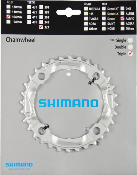 Shimano Kettenblatt Alivio FC-M430 32 Zähne Y1M098060