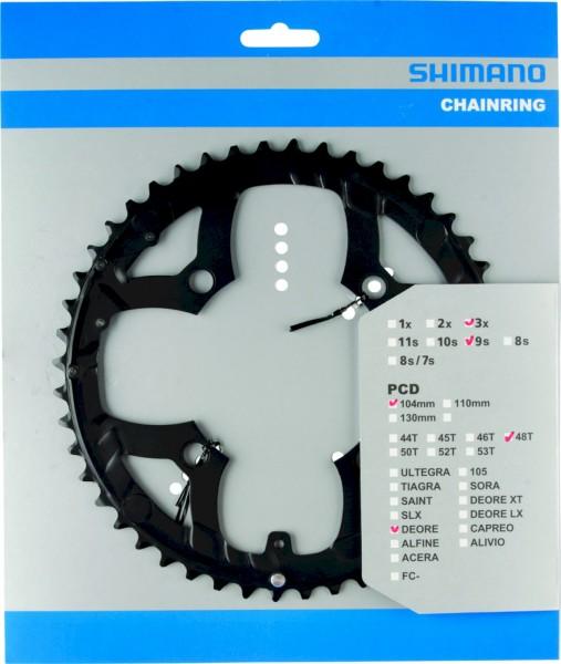 Shimano Kettenblatt Deore FC-M533 48 Zähne schwarz