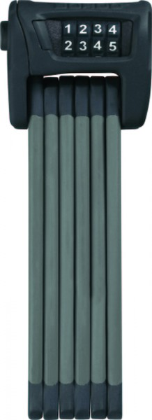 ABUS Faltschloss Bordo Combo 6100 schwarz/grau 75 cm