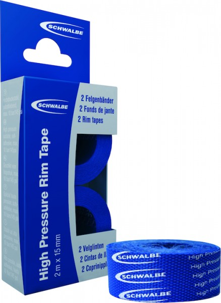 Schwalbe Klebefelgenband High Pressure Felgenband 15mm 2M. 2 Rollen