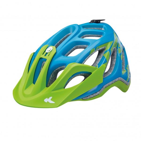 KED Helm Trailon blue green matt