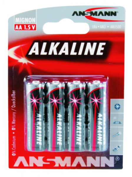 Batterie Alkaline 1,5 Volt - 4er Satz