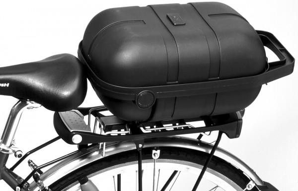 Pletscher Fahrradkoffer mit easy-fix Adapter