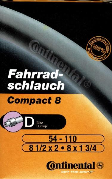 Continental Schlauch mit Blitzventil DV 8 1/2 x 2 - 54-110 - 8 x 1 3/8