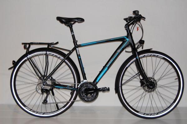 Gudereit X-70 Evo Trekkingrad Herren Bicolor schwarz-matt - blau- grau 53 cm