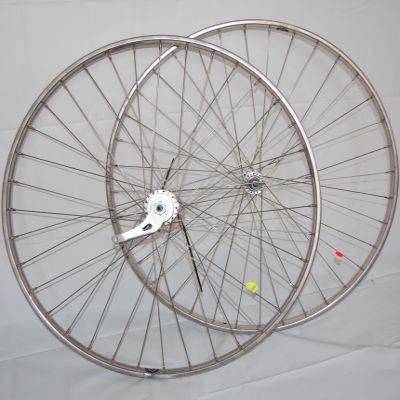 Laufradsatz 28 x 1 1/2 Westwoodfelge Edelstahl Vorderrad / Hinterrad Shimano 3-Gang