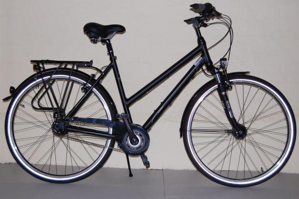 Gudereit Cityrad Comfort 8.0 Trapez matt-schwarz 53 cm